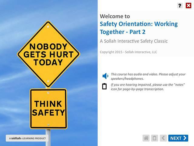 Safety Orientation - Working Together™ - Part 2
