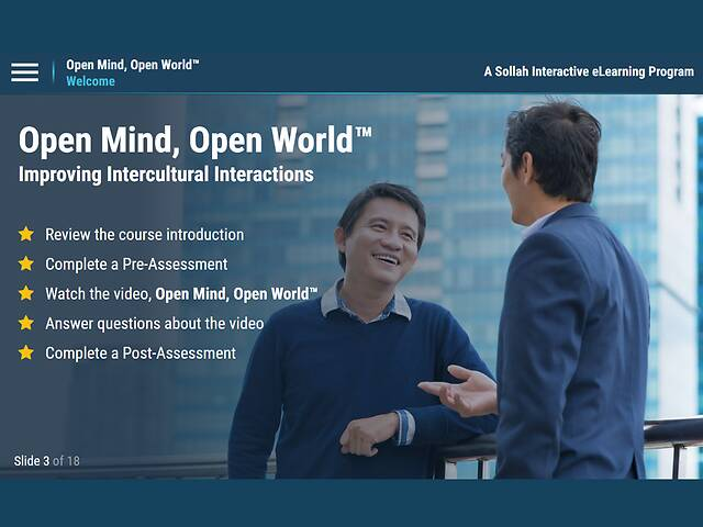 Open Mind, Open World: Improving Intercultural Interactions™