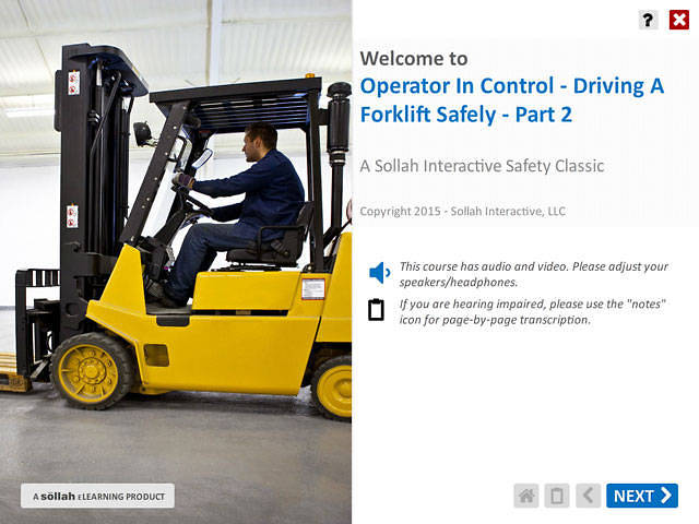 Operator In Control – Driving A Forklift Safely™ - Part 2