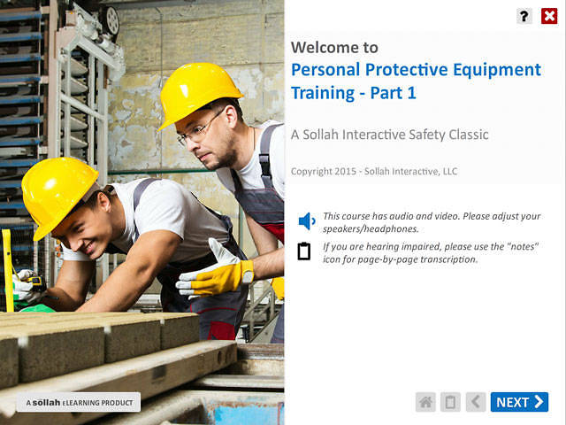 Personal Protective Equipment Training™ - Part 1