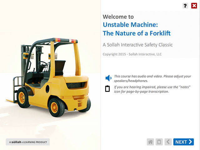 Unstable Machine The Nature of a Forklift™
