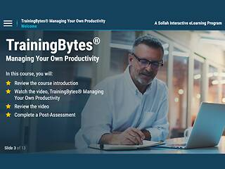 TrainingBytes® Managing Your Own Productivity
