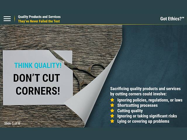 Got Ethics?® Quality Products and Services
