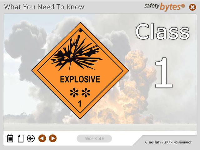 SafetyBytes® - Hazard Class 1 - Explosives
