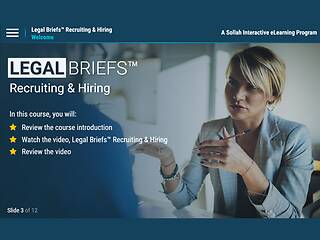 Legal Briefs™ Recruiting & Hiring: A Manager's Guide to Staying Out of Court