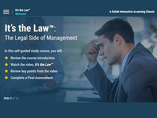 It's the Law™: The Legal Side of <u>Management</u>