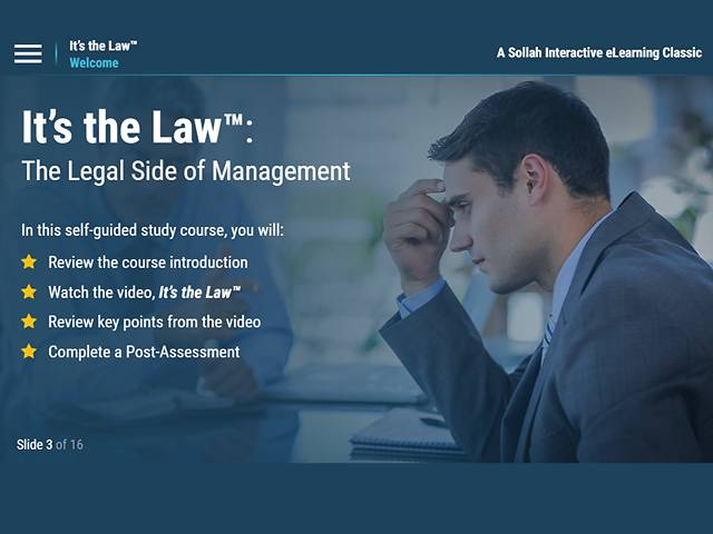 It's the Law™: The Legal Side of Management