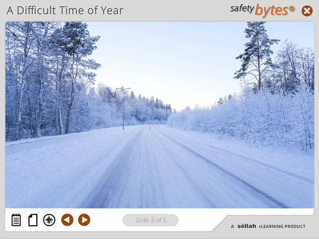 SafetyBytes® - Braking and Adjusting on Winter Roads