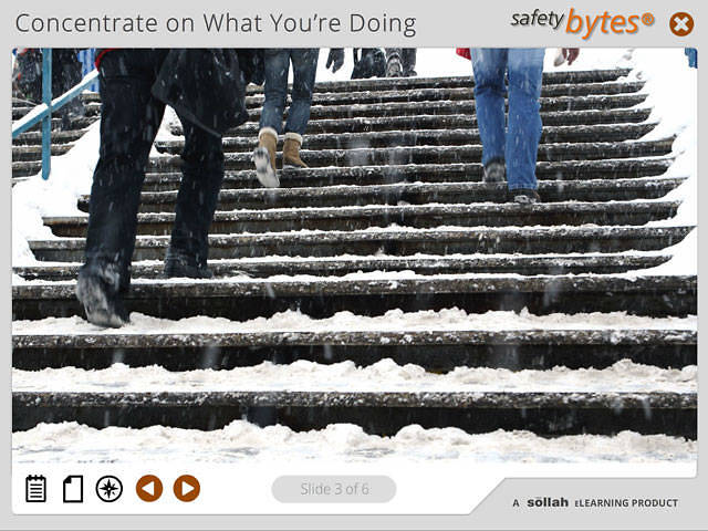 SafetyBytes® - Negotiating Steps During the Winter