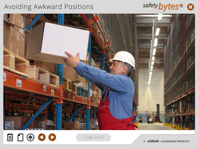 SafetyBytes® - Reaching and Back Injury