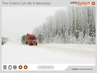<u>Safety</u>Bytes® - Truck Tire Chaining - The Roll Over Method