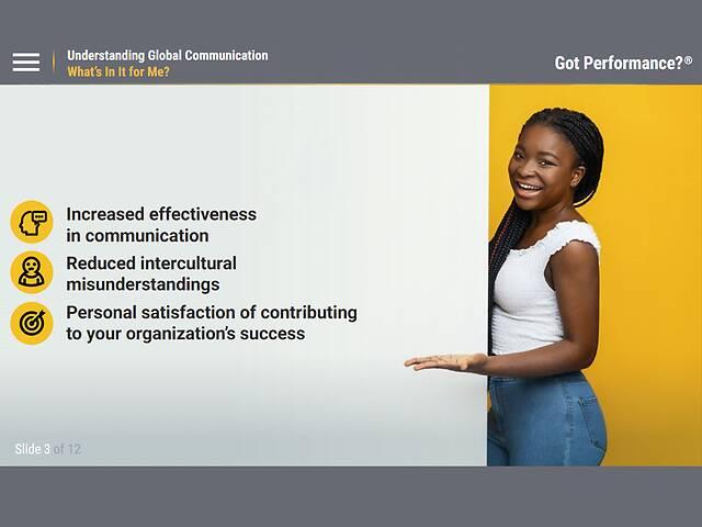 Got Performance?™ Understanding Global Communication