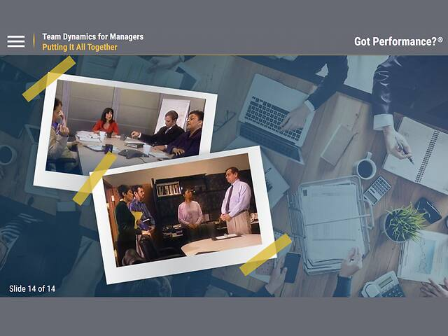 Got Performance?™ Team Dynamics for Managers