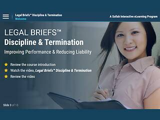 Legal Briefs™ Discipline & Termination: Improving Performance & Reducing Liability