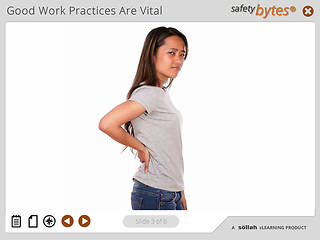 SafetyBytes® - Preventing Ergonomic Disorders: Good Work Practices