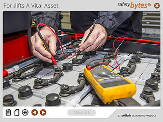 <u>Safety</u>Bytes® Forklift <u>Safety</u>: Charging A Battery