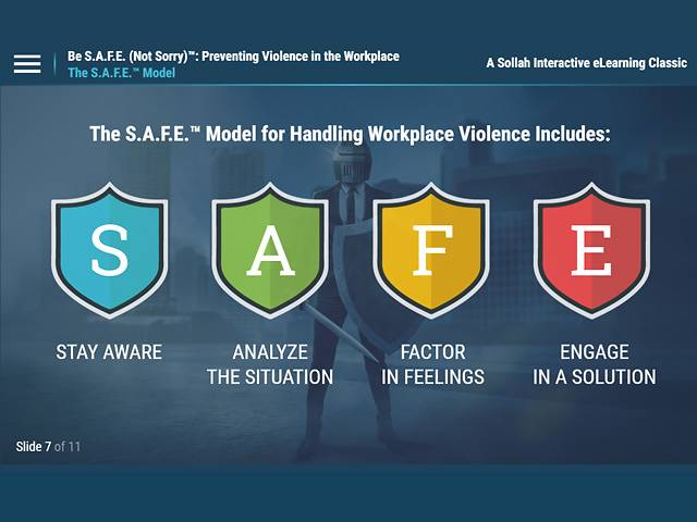 Be S.A.F.E. (Not Sorry)™: Preventing Violence in the Workplace