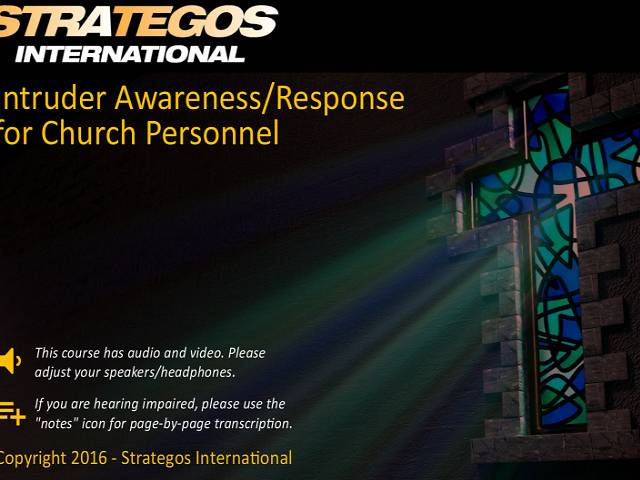 Intruder Awareness/Response & Conflict Management for Church Personnel