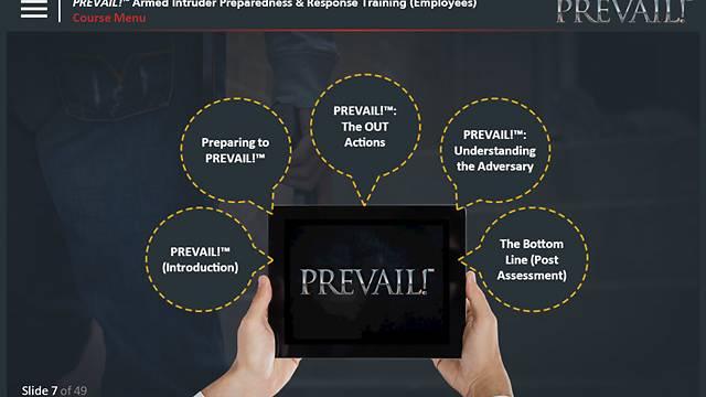 PREVAIL!® <u>Armed Intruder</u> Preparedness & Response Training (Employee - Premium)