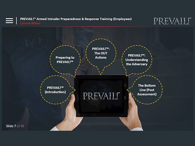PREVAIL!® Armed Intruder Preparedness & Response Training (Employee - Premium)
