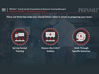 PREVAIL!® Armed Intruder Preparedness & Response Training (Manager - Premium)