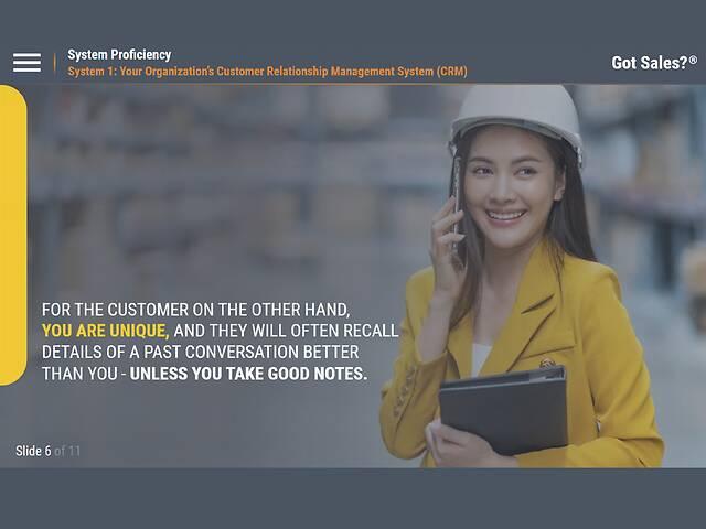 GotSales™ System Proficiency