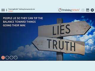 TrainingBriefs® Asking Someone to Lie