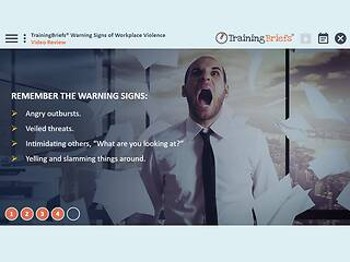 TrainingBriefs® Warning Signs of Workplace Violence