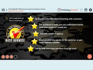 TrainingBriefs™ Behaviors to Improve Customer Service