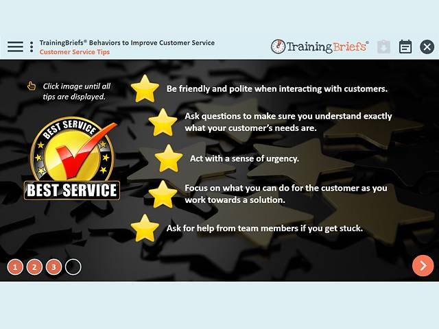 TrainingBriefs® Behaviors to Improve Customer Service