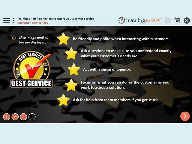 TrainingBriefs™ Behaviors to Improve Customer Service