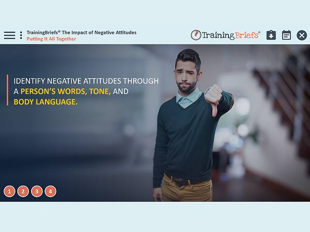 TrainingBriefs® The Impact of Negative Attitudes