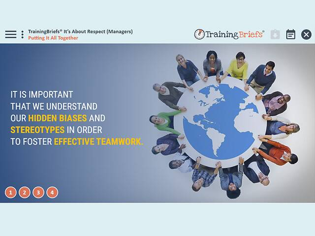 TrainingBriefs® It's About Respect (Managers)