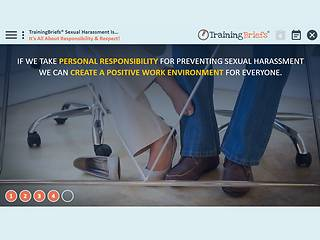 TrainingBriefs™ Sexual <u>Harassment</u> Is...