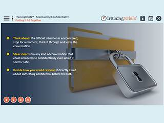TrainingBriefs® Maintaining Confidentiality