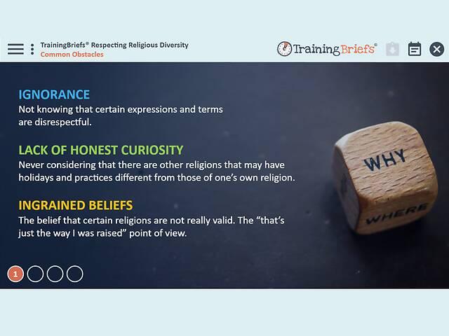 TrainingBriefs® - Respecting Religious Diversity