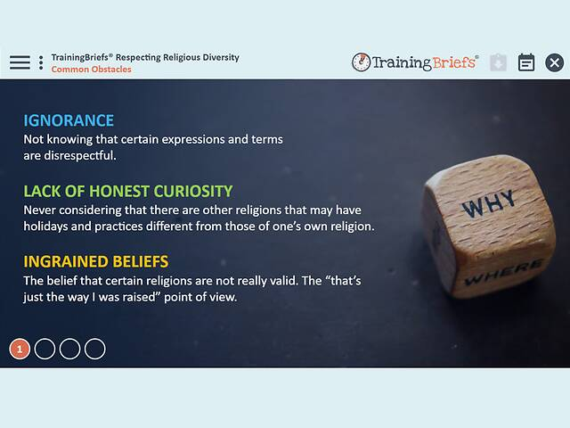 TrainingBriefs™ - Respecting Religious Diversity
