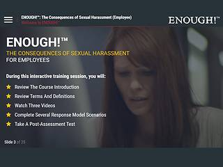 ENOUGH!™: The Consequences of Sexual Harassment (for <u>Employees</u>)