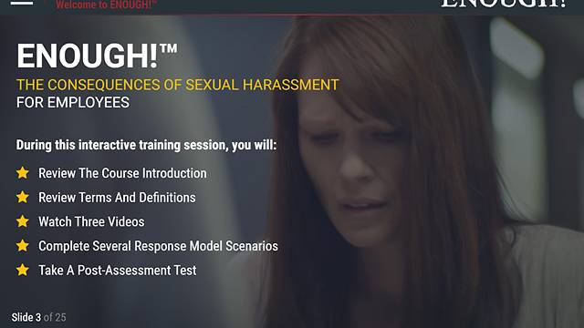 ENOUGH!™: The Consequences of Sexual Harassment (for Employees)
