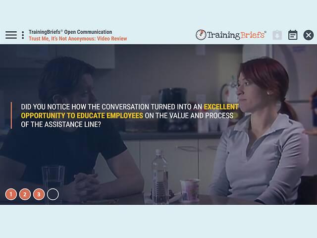 TrainingBriefs® Open Communication