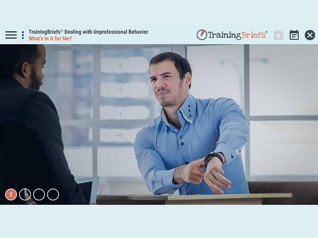 TrainingBriefs® Dealing with Unprofessional Behavior