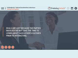 TrainingBriefs™ Cultural Considerations in Business