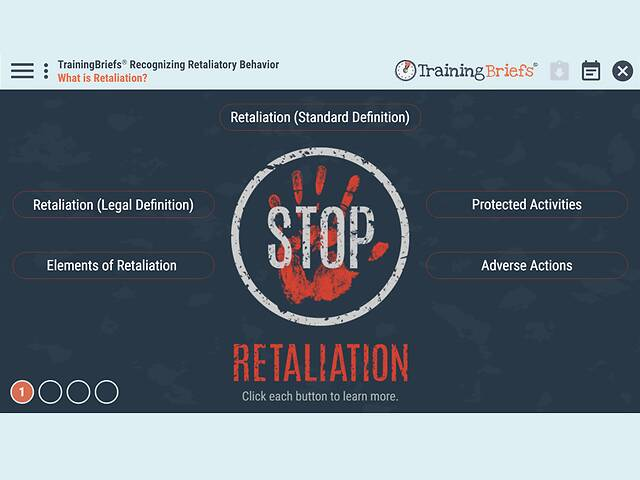 TrainingBriefs™ Recognizing Retaliatory Behavior