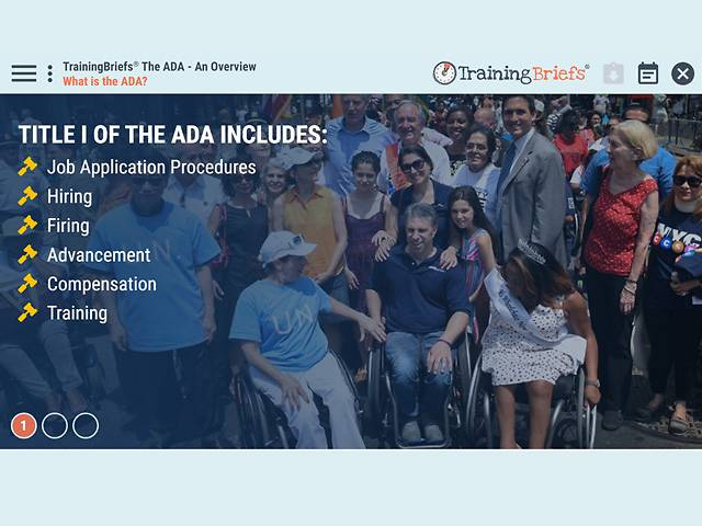 TrainingBriefs® The ADA – An Overview