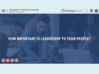 TrainingBriefs® The Benefits of <u>Leadership</u>