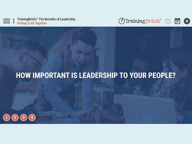 TrainingBriefs® The Benefits of Leadership