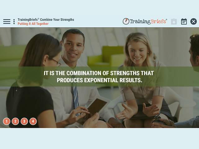TrainingBriefs™ Combine Your Strengths