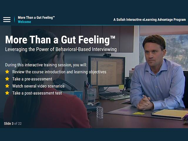 More Than a Gut Feeling™: Leveraging the Power of Behavior-Based Interviewing
